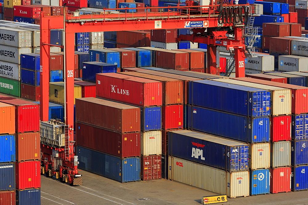 Container port, Sihanoukville Port, Sihanouk Province, Cambodia, Indochina, Southeast Asia, Asia