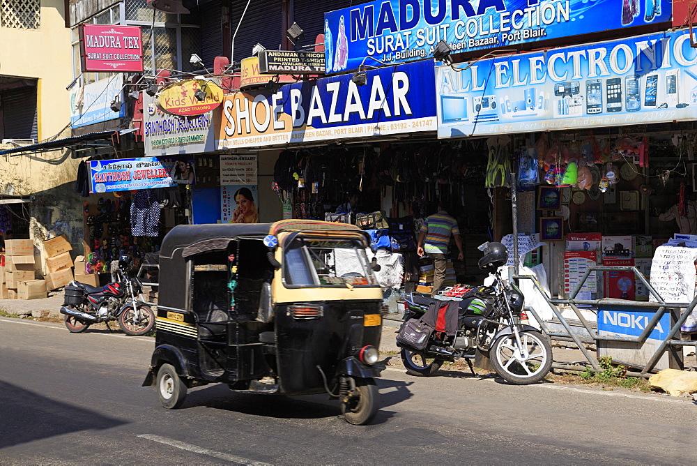 Street scene in Port Blair, Andaman Islands, India, Asia