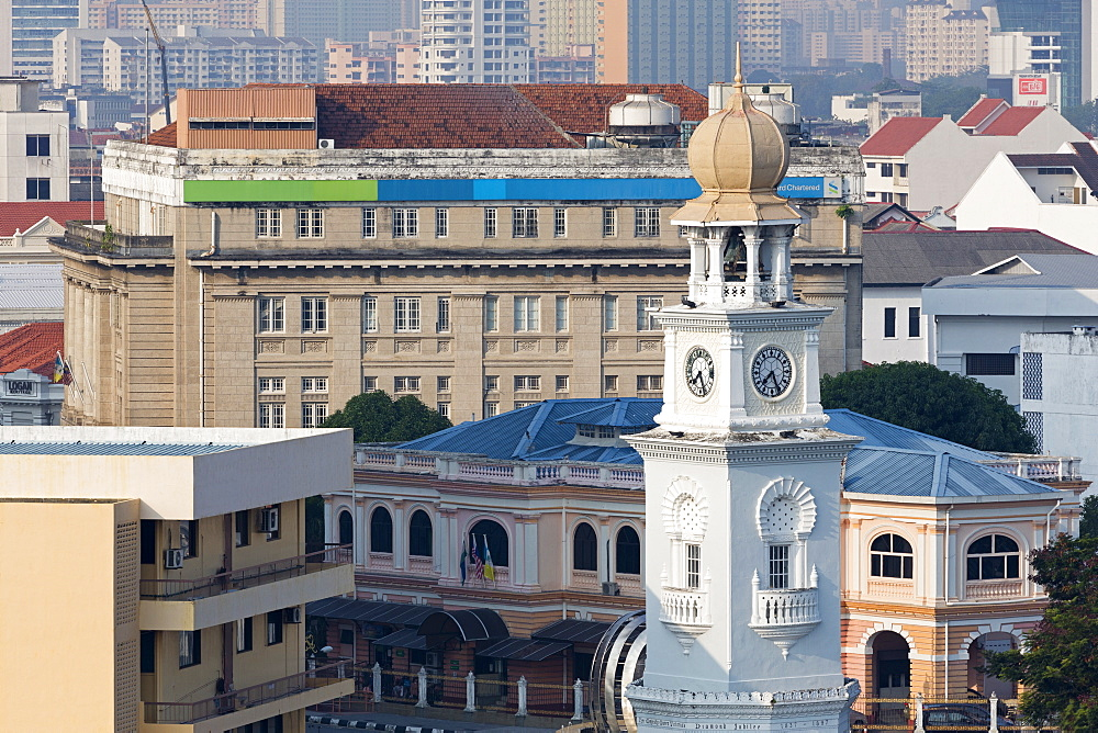 Clock Tower, Georgetown, Penang Island, Malaysia, Southeast Asia, Asia