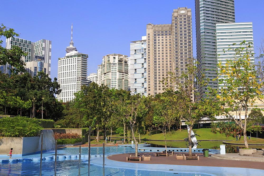 KLCC Park, Kuala Lumpur, Malaysia, Southeast Asia, Asia
