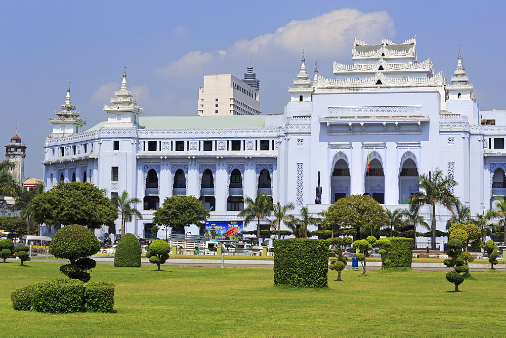 Yangon City Hall, Yangon (Rangoon), Myanmar (Burma), Asia