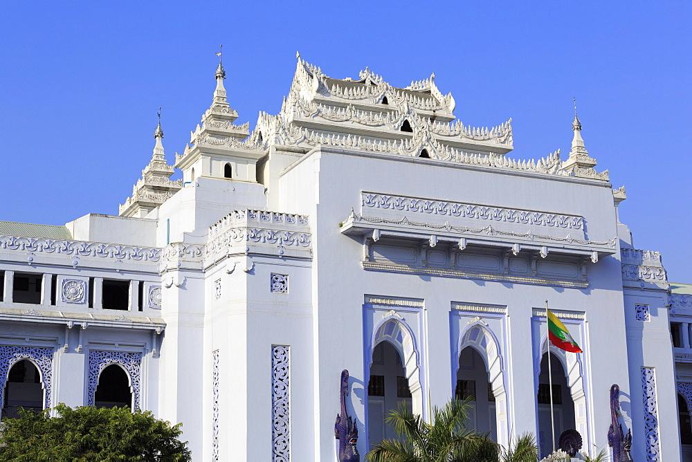 Yangon City Hall, Yangon (Rangoon), Myanmar (Burma), Asia