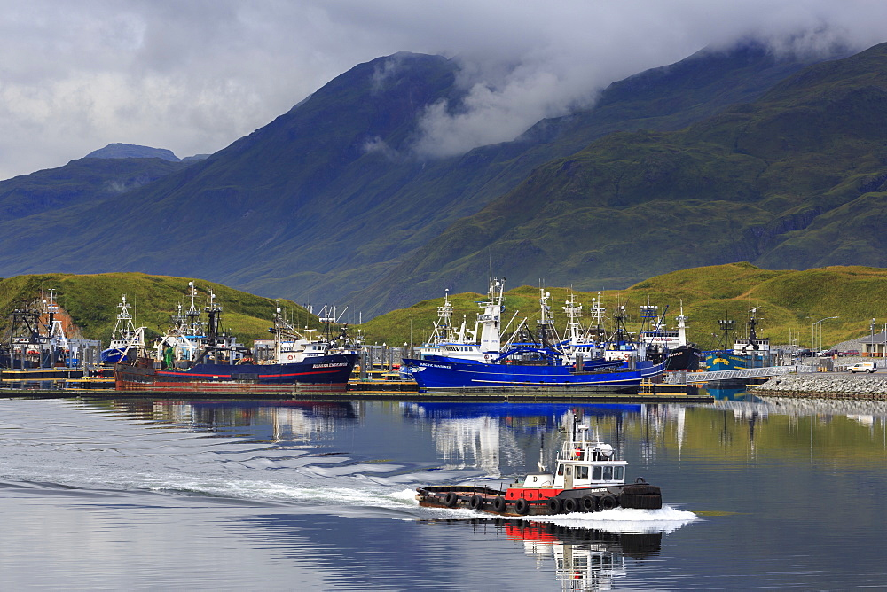 Carl E. Moses Boat Harbor, Dutch Harbor, Amaknak Island, Aleutian Islands, Alaska, United States of America, North America