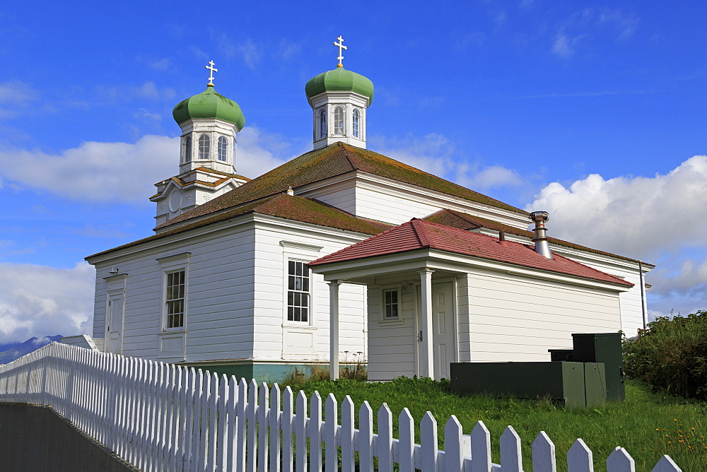 Russian Orthodox Church, Unalaska Island, Aleutian Islands, Alaska, United States of America, North America