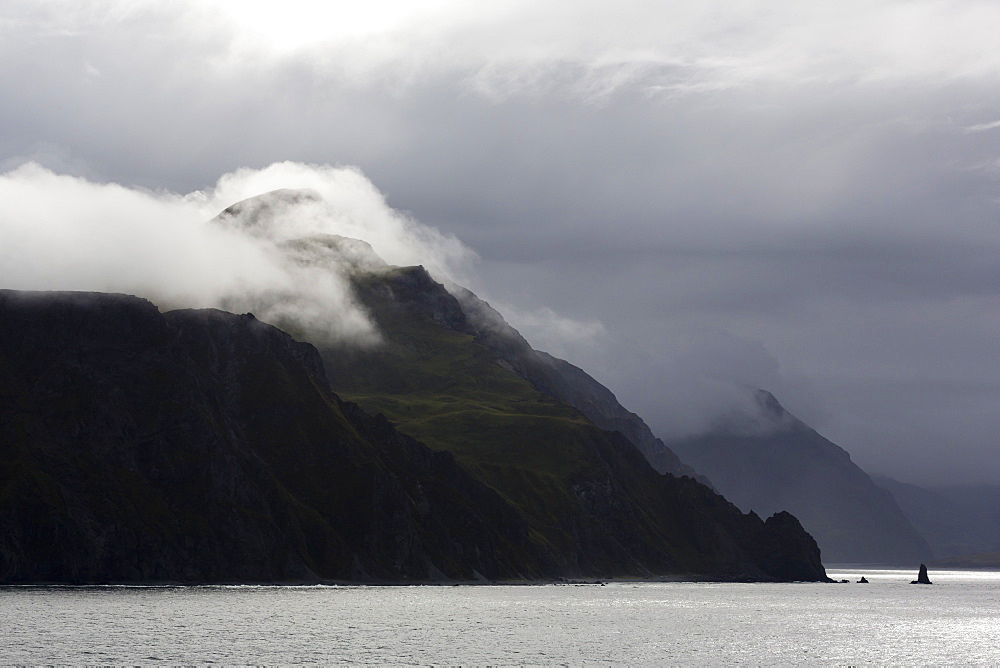 Mount Ballyhoo, Dutch Harbor, Amaknak Island, Aleutian Islands, Alaska, United States of America, North America