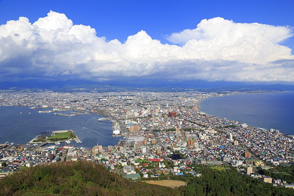 Ropeway view, Hakodate City, Hokkaido Prefecture, Japan, Asia