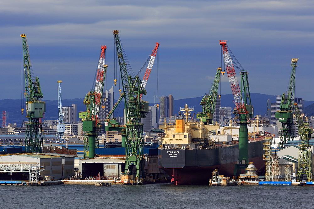Kawasaki Kobe Shipyard, Honshu Island, Japan, Asia