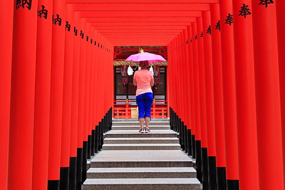 Ikuta Jinja Shrine, Kobe City, Honshu Island, Japan, Asia