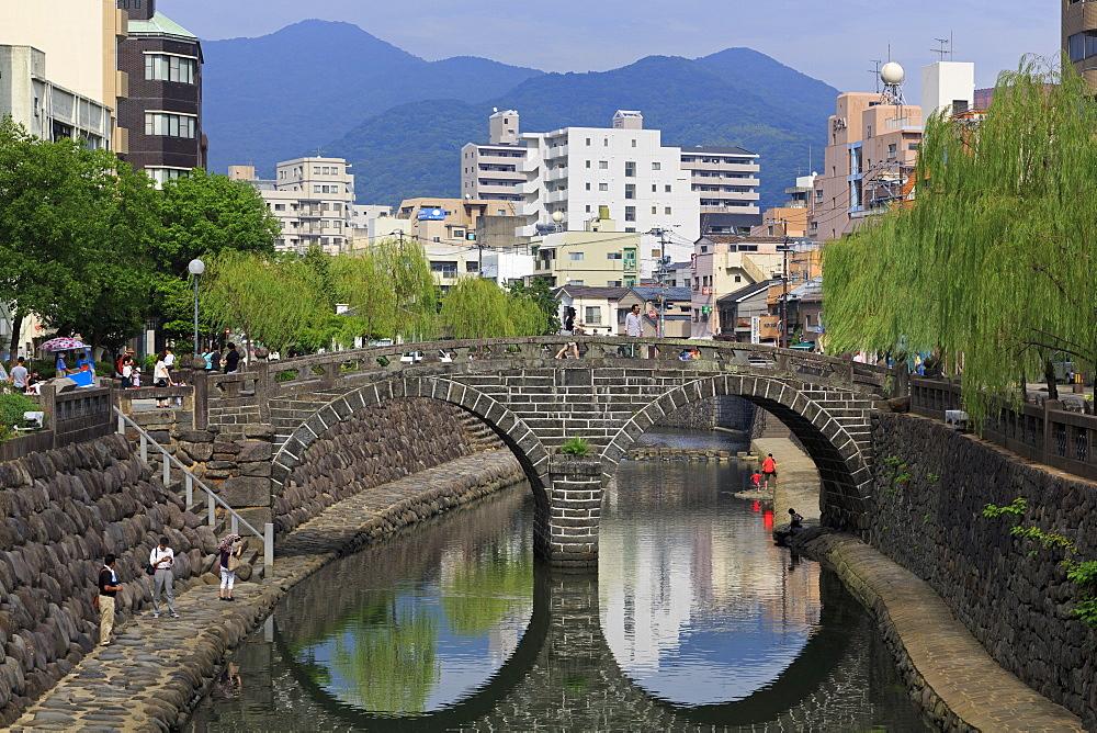 Spectacles Bridge, Nakashima River, Nagasaki, Kyushu Island, Japan, Asia