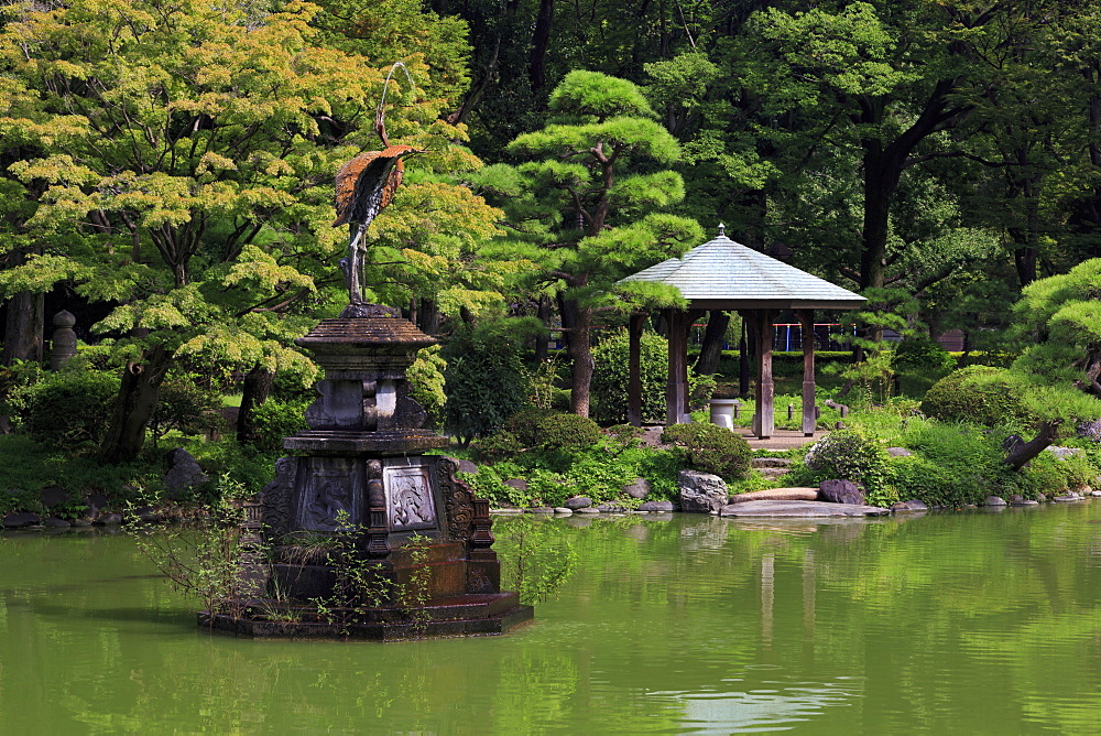 Swan Fountain, Hibiya Park, Tokyo, Japan, Asia