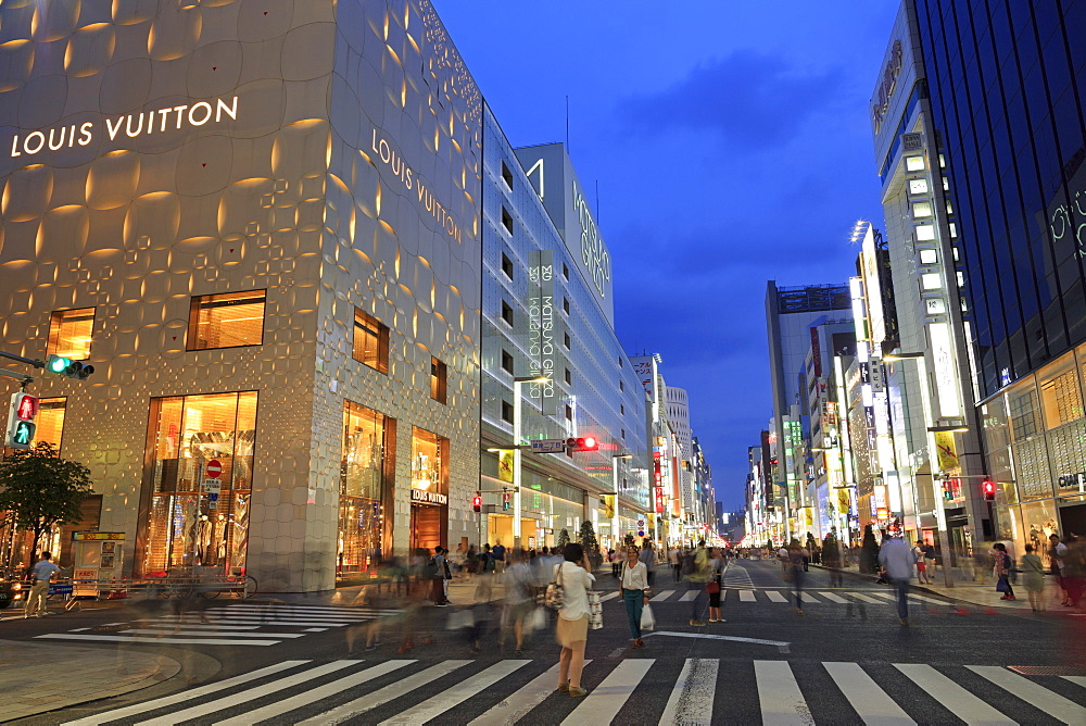 Ginza Shopping District, Tokyo, Japan, Asia
