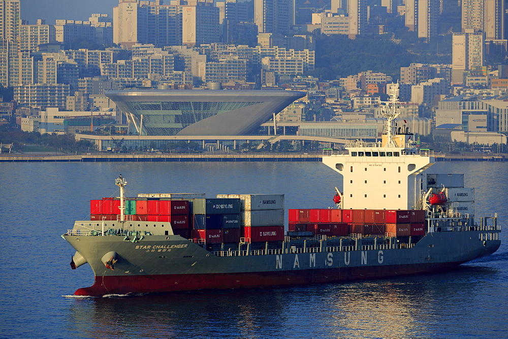 Container ship, Port of Busan, South Korea, Asia