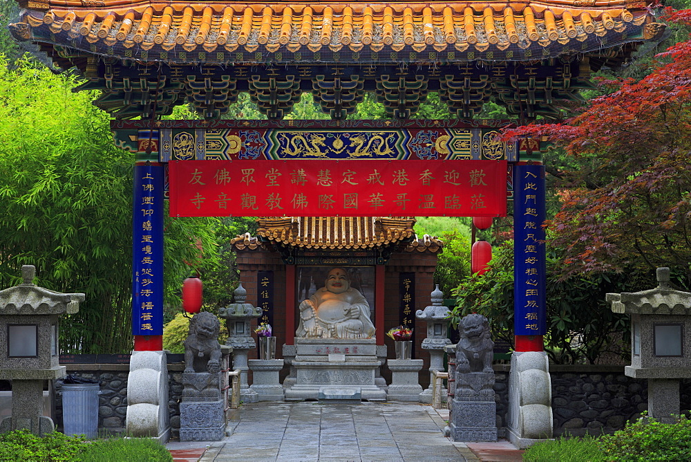 International Buddhist Temple, Richmond, Vancouver, British Columbia, Canada, North America