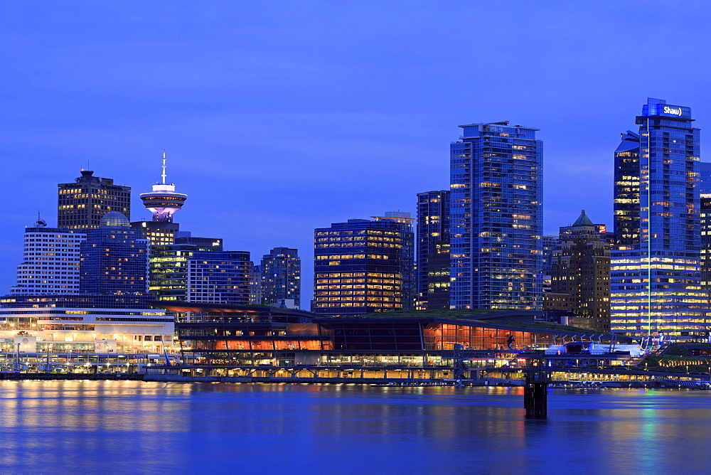 Vancouver skyline, British Columbia, Canada, North America