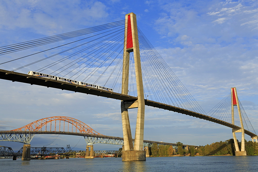 Skytrain Bridge, New Westminster, Vancouver Region, British Columbia, Canada, North America