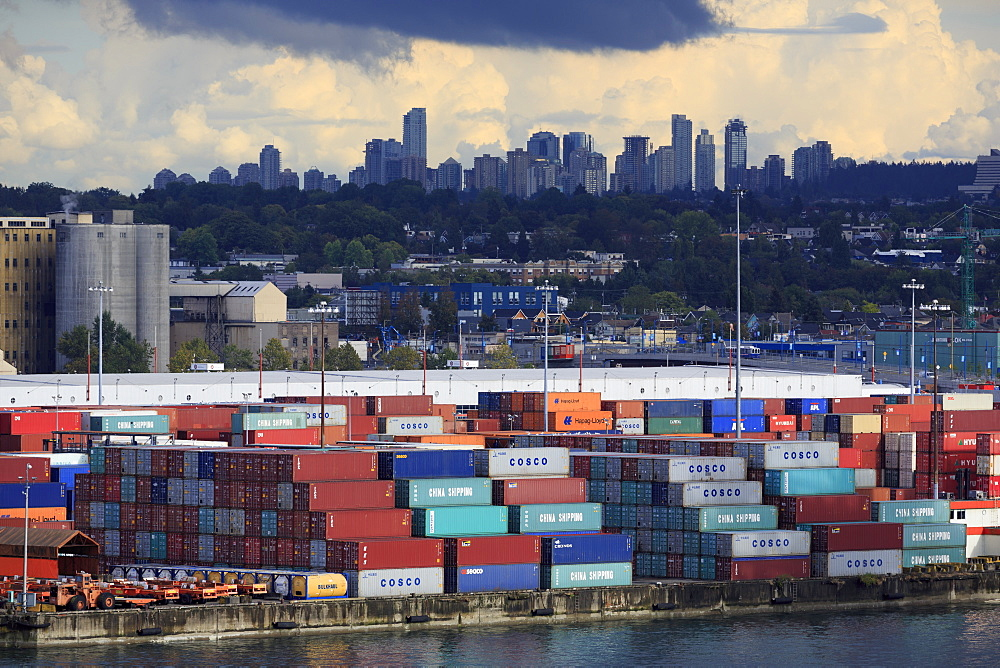 Container Port, Vancouver, British Columbia, Canada, North America