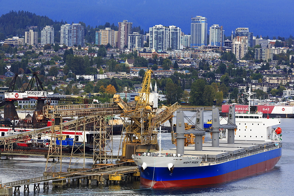Commercial docks in North Vancouver, British Columbia, Canada, North America