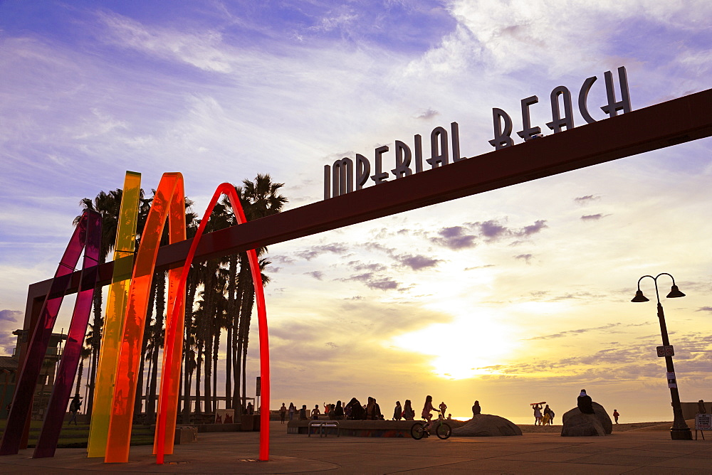 Pier entrance, Imperial Beach, San Diego, California, USA