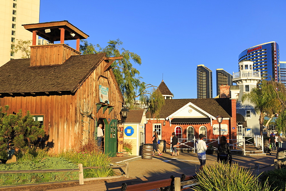 Seaport Village, Embarcadero, San Diego, California, United States of America, North America