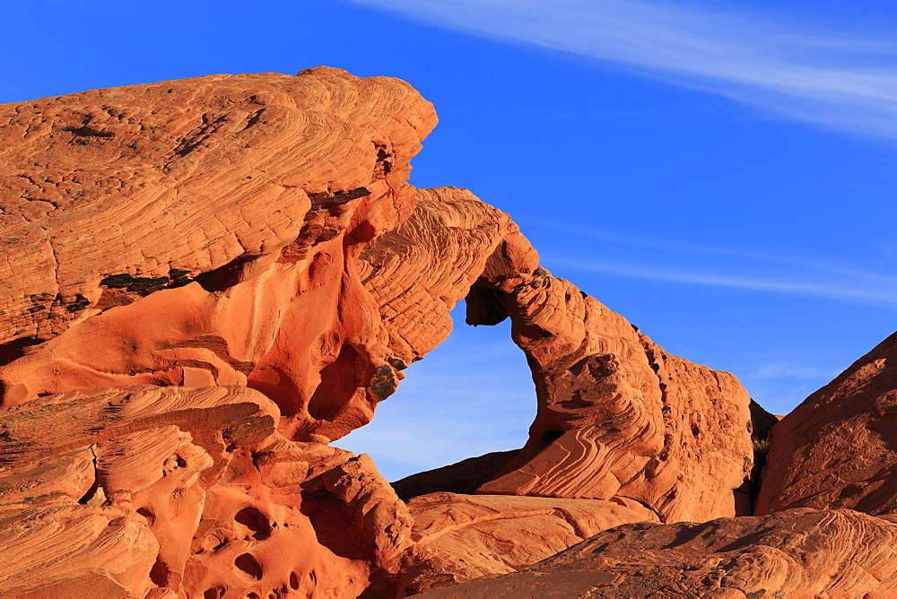 Natural Arch, Valley of Fire State Park, Overton, Nevada, USA