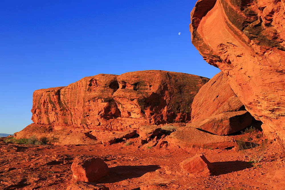 Rock formations in Pioneer Park, St. George, Utah, USA