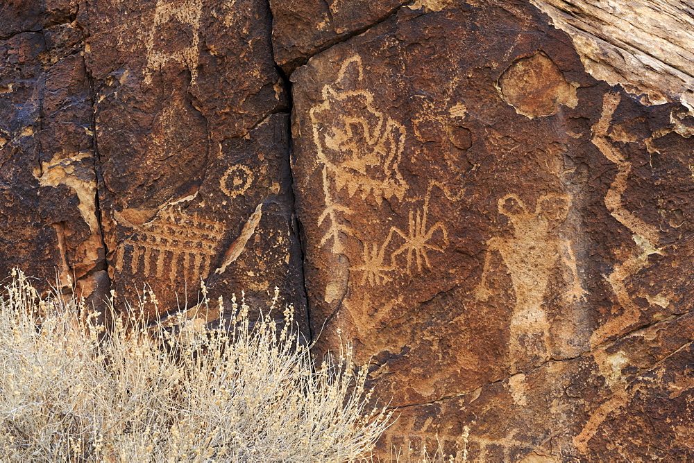Petroglyphs, Parowan Gap, Iron County, Utah, United States of America, North America