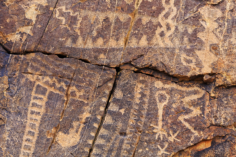 Petroglyphs, Parowan Gap, Iron County, Utah, USA