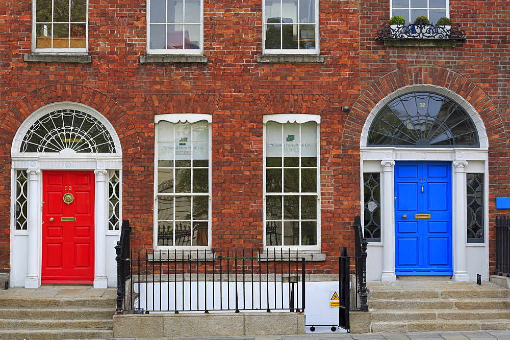 Georgian Door, Merrion Street Upper, Dublin City, County Dublin, Republic of Ireland, Europe