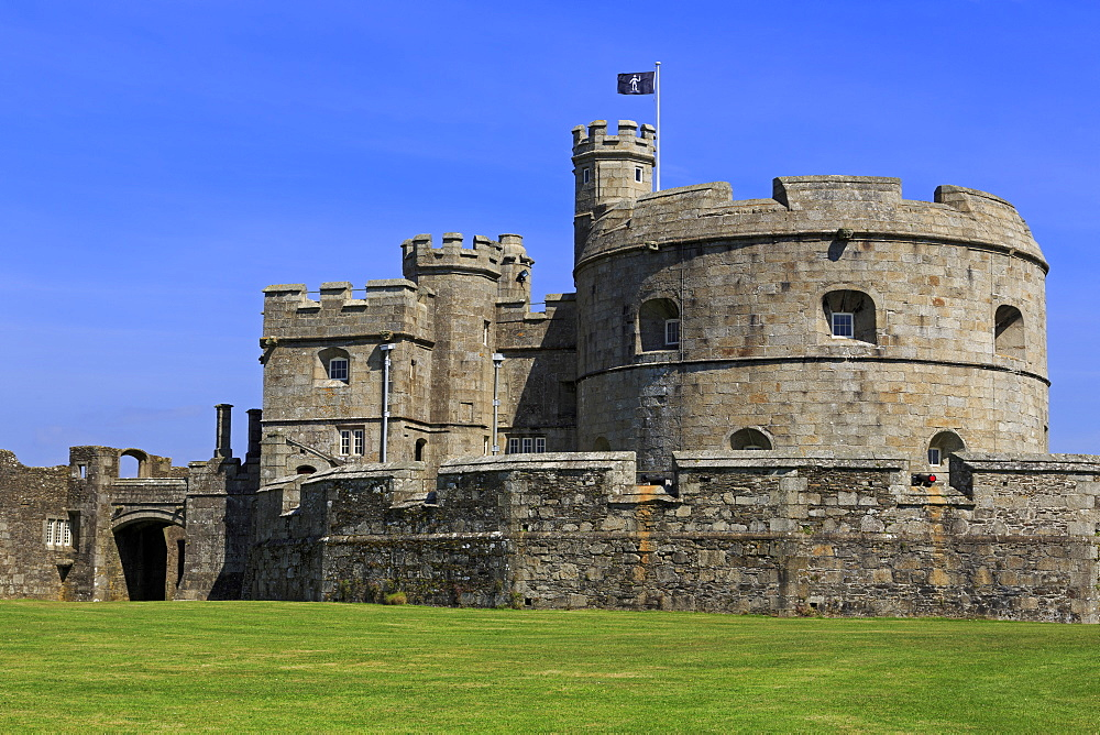 Henry VIII's Fort in Pendennis Castle, Falmouth, Cornwall, England, United Kingdom