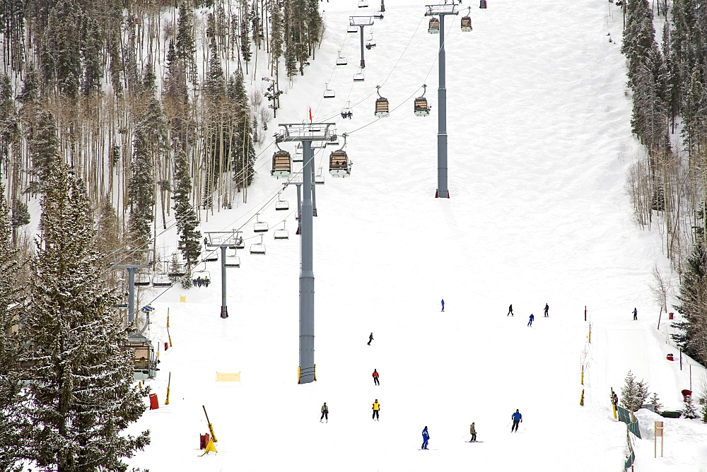 Lionshead Village ski run, Vail Ski Resort, Rocky Mountains, Colorado, United States of America, North America
