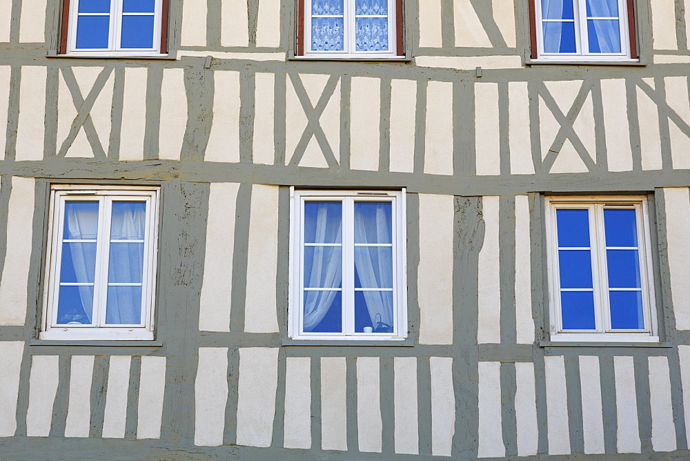 Timber framed house, Old Town, Rouen, Normandy, France, Europe - 776-4990