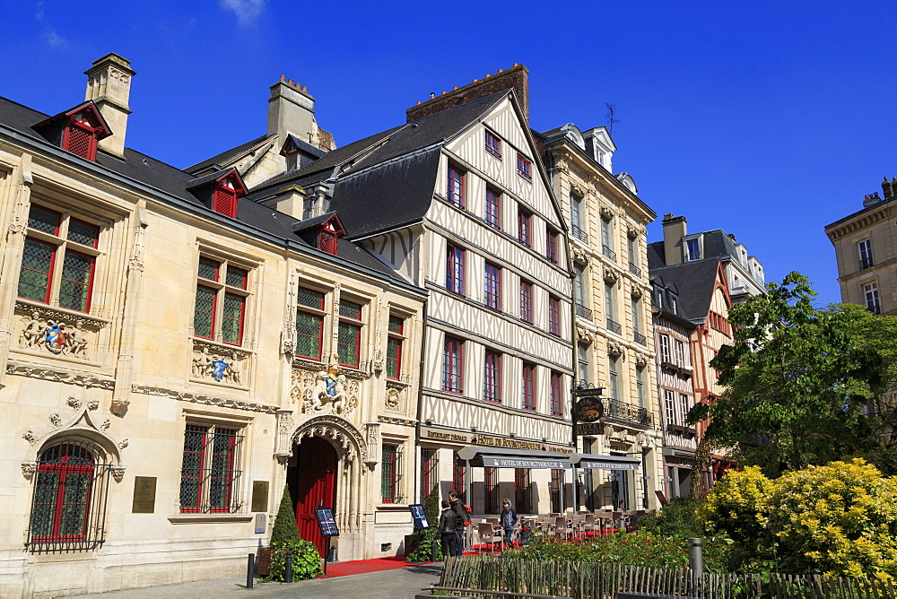 Hotel de Bourgtheroulde, Old Town, Rouen, Normandy, France, Europe - 776-4993