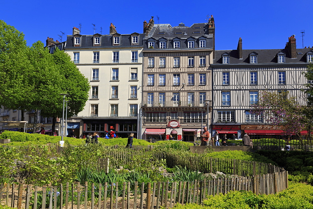 Place du Vieux Marche, Old Town, Rouen, Normandy, France, Europe - 776-4995