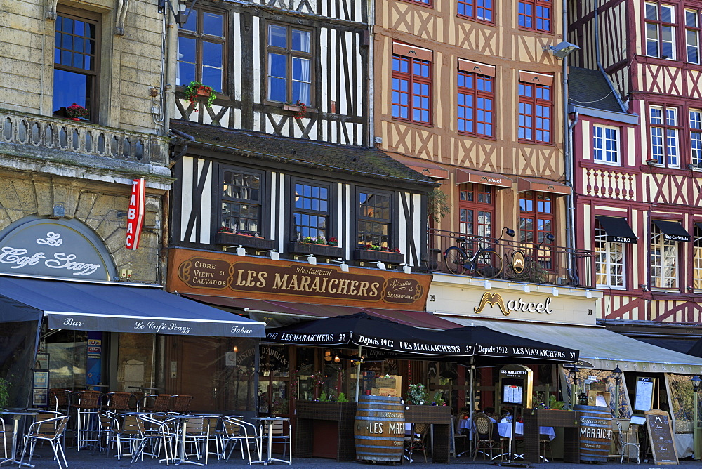 Place du Vieux Marche, Old Town, Rouen, Normandy, France, Europe - 776-4996