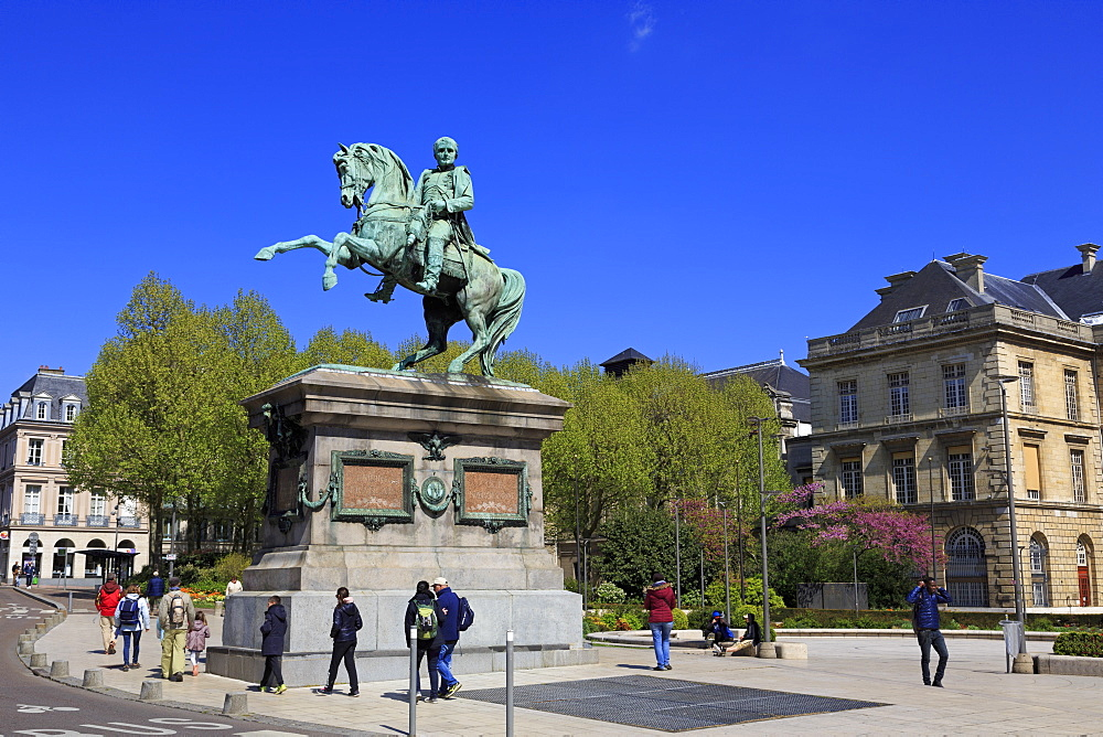 Statue of Napoleon, Hotel De Ville Rouen, Normandy, France, Europe