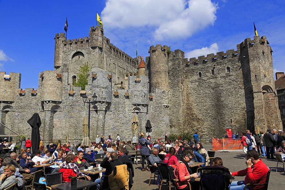 Gravensteen Castle, Ghent, East Flanders, Belgium, Europe - 776-5010