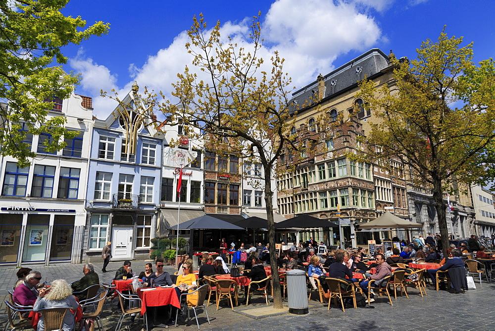 Vrijdag Market, Ghent, East Flanders, Belgium, Europe