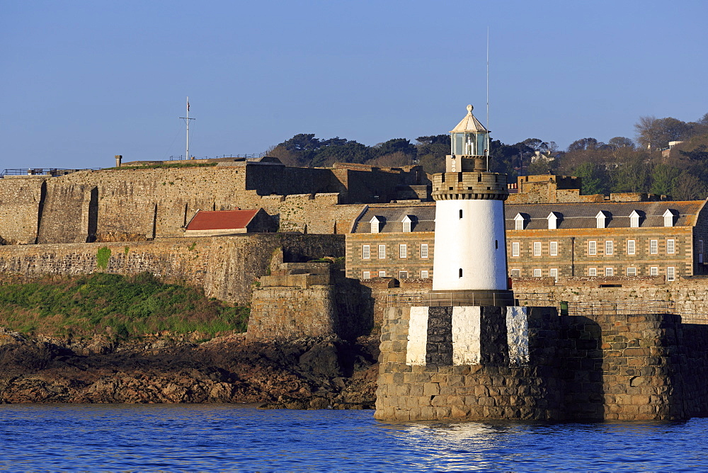 Castle Breakwater Lighthouse, St. Peter Port, Guernsey, Channel Islands, Europe - 776-5030