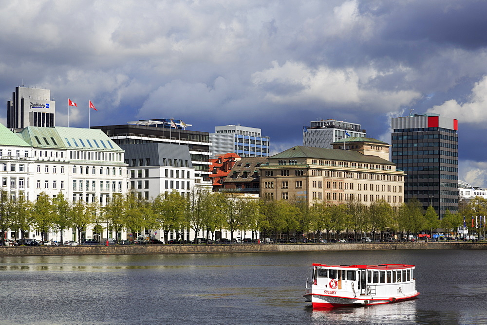 Binnenalster Lake, Hamburg, Germany, Europe - 776-5045