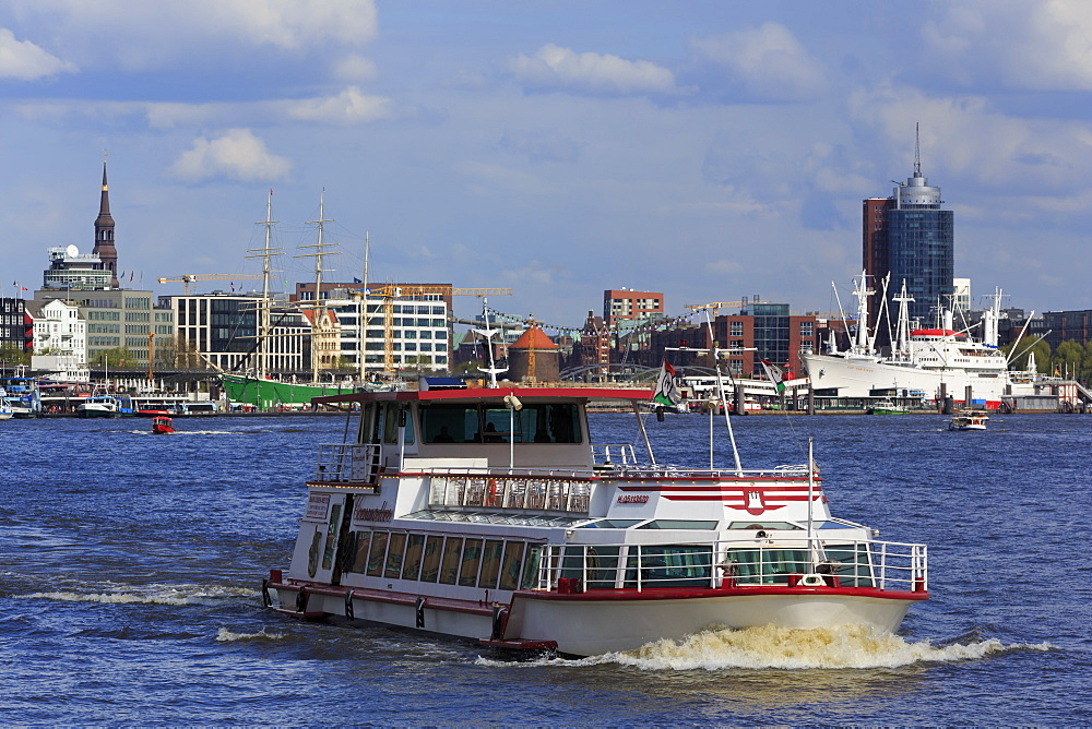 Ferry, Elbe River, Hamburg, Germany, Europe - 776-5049