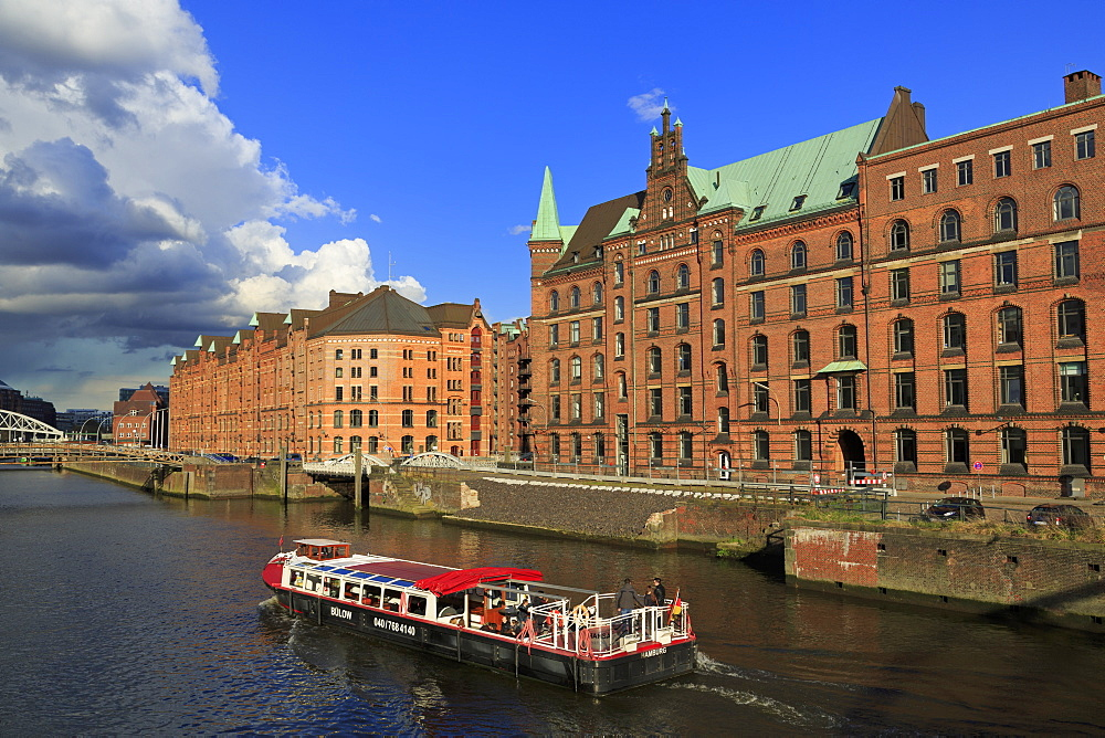 Warehouses in Speicherstadt District, Hamburg, Germany, Europe