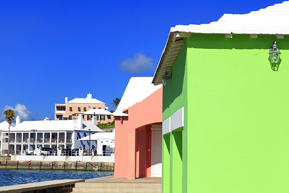 Stores, Somers' Wharf, Town of St. George, St. George's Parish, Bermuda, Central America