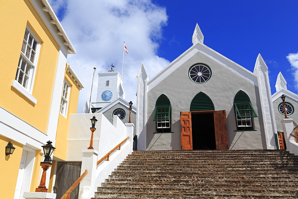 St. Peter's Church, Town of St. George, St. George's Parish, Bermuda, Central America