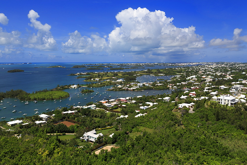 View from Gibbs Hill Lighthouse, Southampton Parish, Bermuda