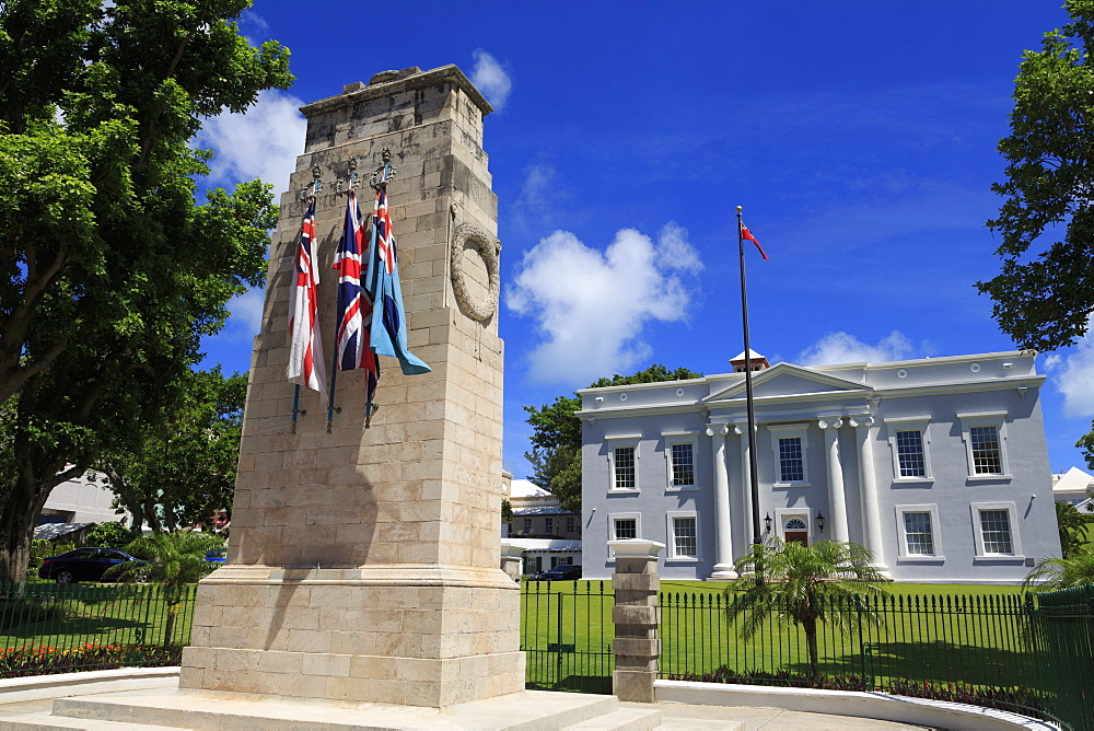 War Memorial, Cabinet Building, Hamilton City, Pembroke Parish, Bermuda, Atlantic, Central America