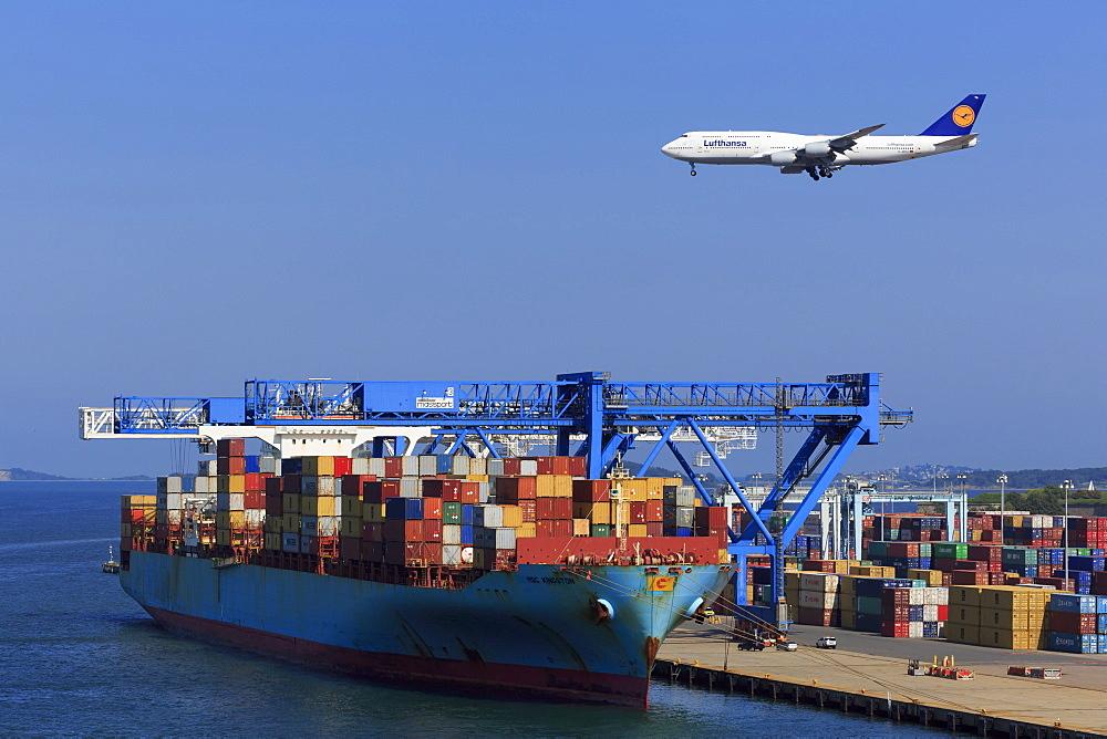 Container Port, Boston, Massachusettes, New England, United States of America, North America