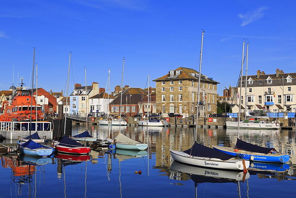Boats, Weymouth Harbour, Dorset, England, United Kingdom, Europe