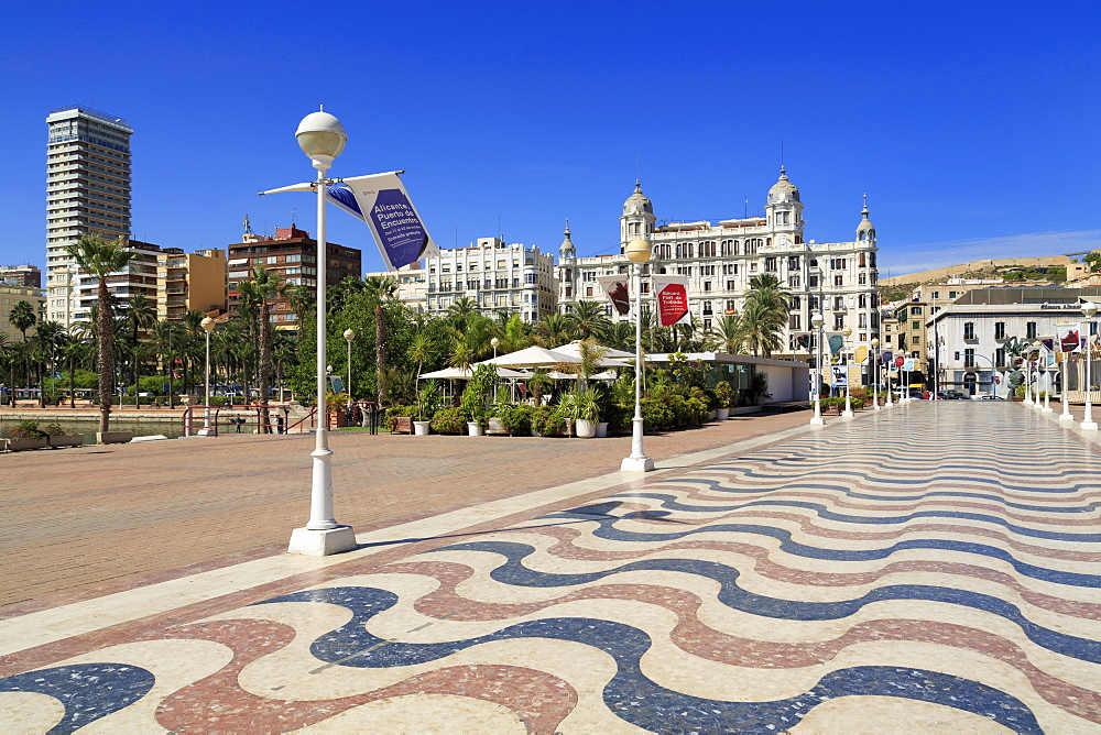 Plaza Del Mer, Alicante, Costa Blanca, Spain, Europe