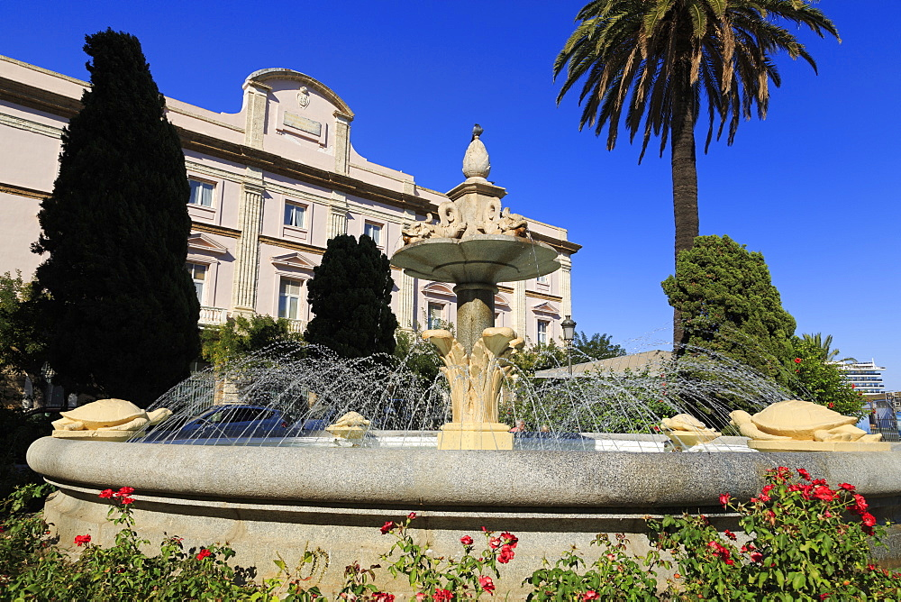 Fountain in Canalejas Park, Cadiz, Andalusia, Spain, Europe - 776-5146