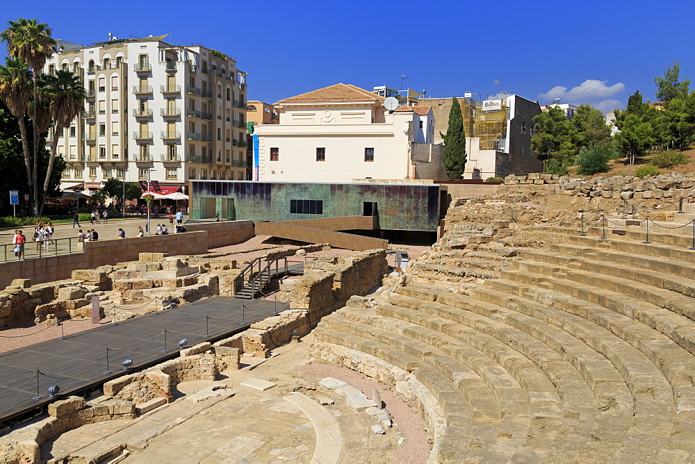Roman Theatre, Malaga City, Andalusia, Spain, Europe